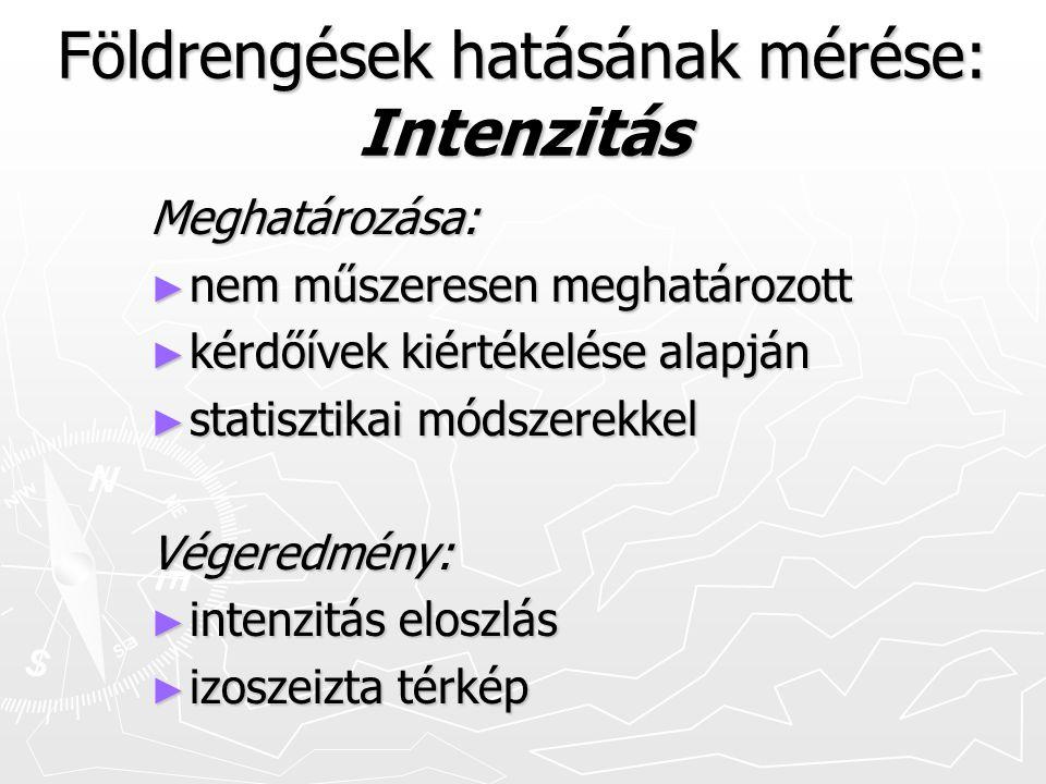 Földrengések hatásának mérése: Intenzitás