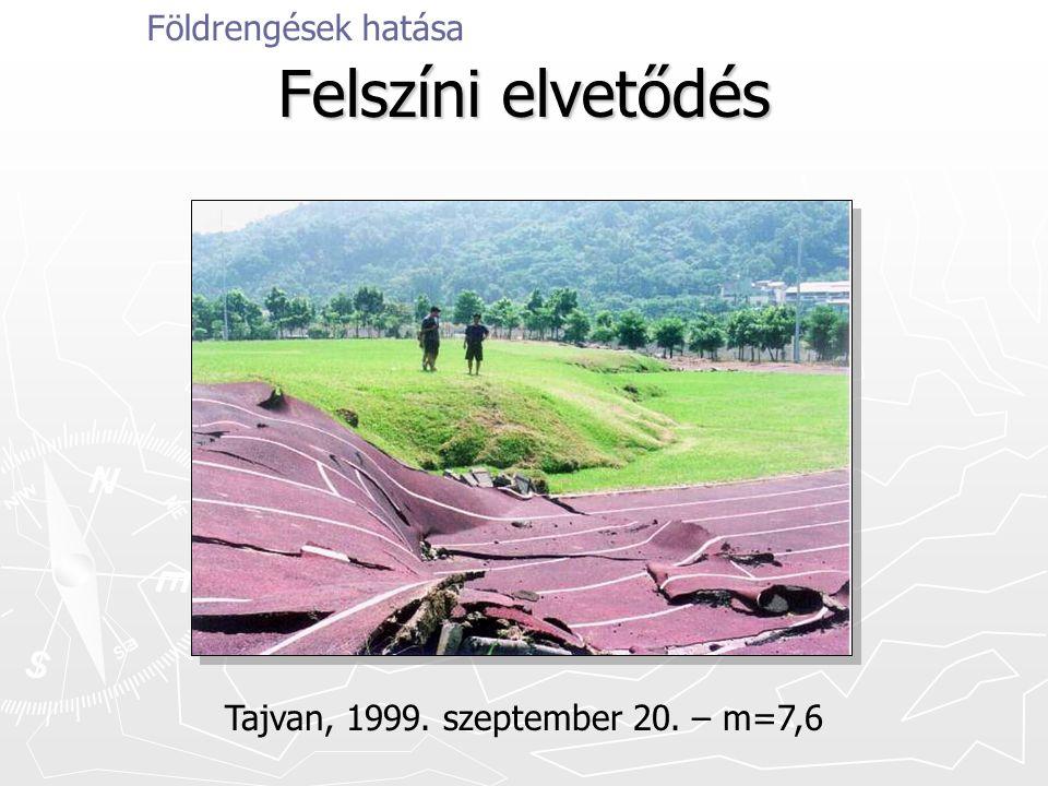 Felszíni elvetődés Földrengések hatása