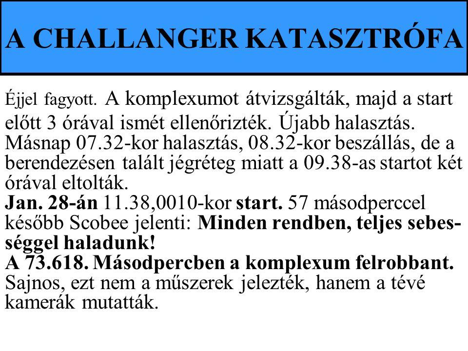 A CHALLANGER KATASZTRÓFA