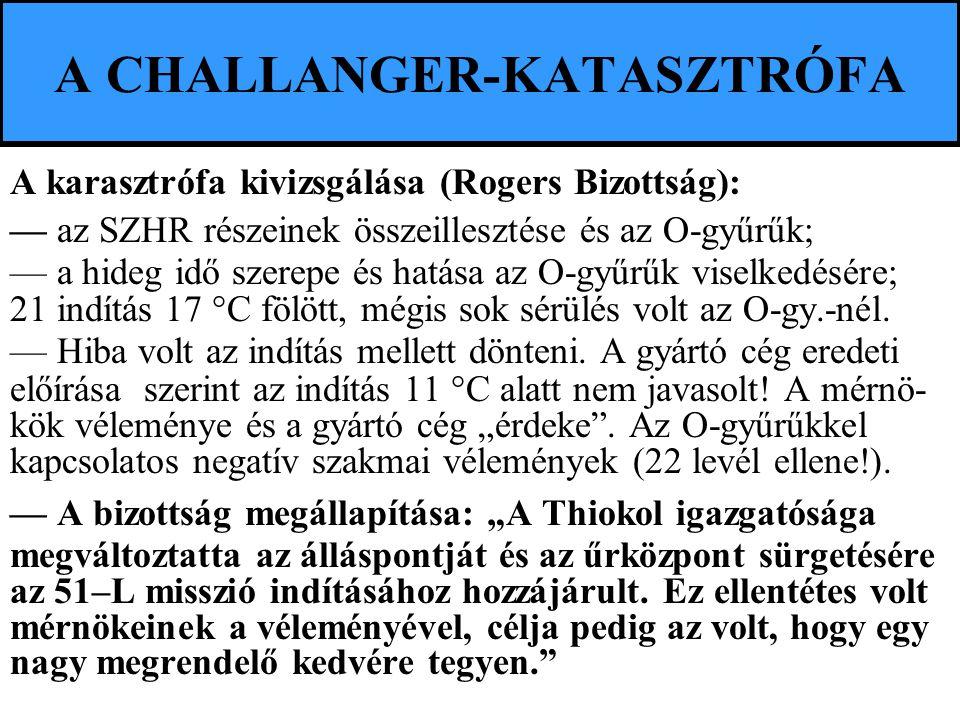 A CHALLANGER-KATASZTRÓFA