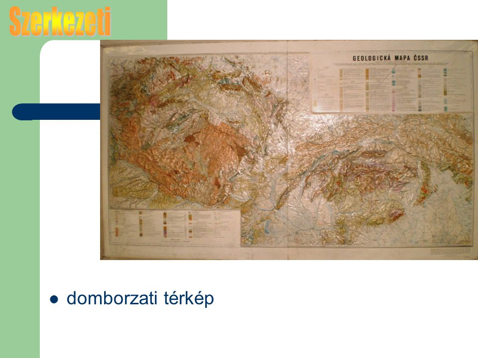 Szerkezeti domborzati térkép