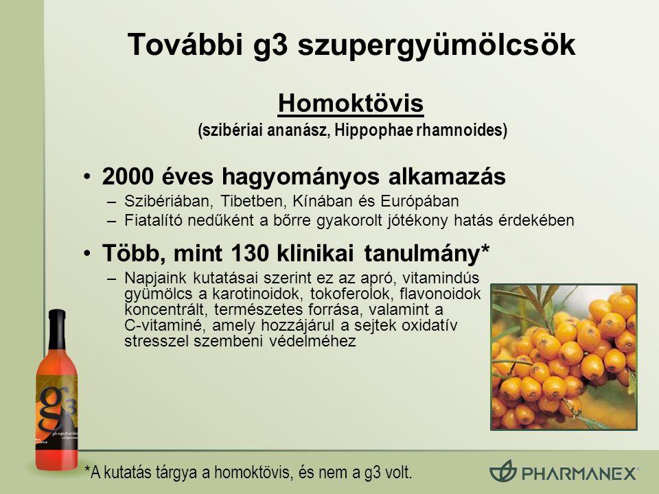 További g3 szupergyümölcsök (szibériai ananász, Hippophae rhamnoides)