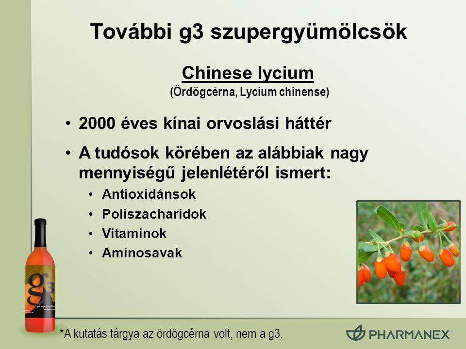 További g3 szupergyümölcsök (Ördögcérna, Lycium chinense)