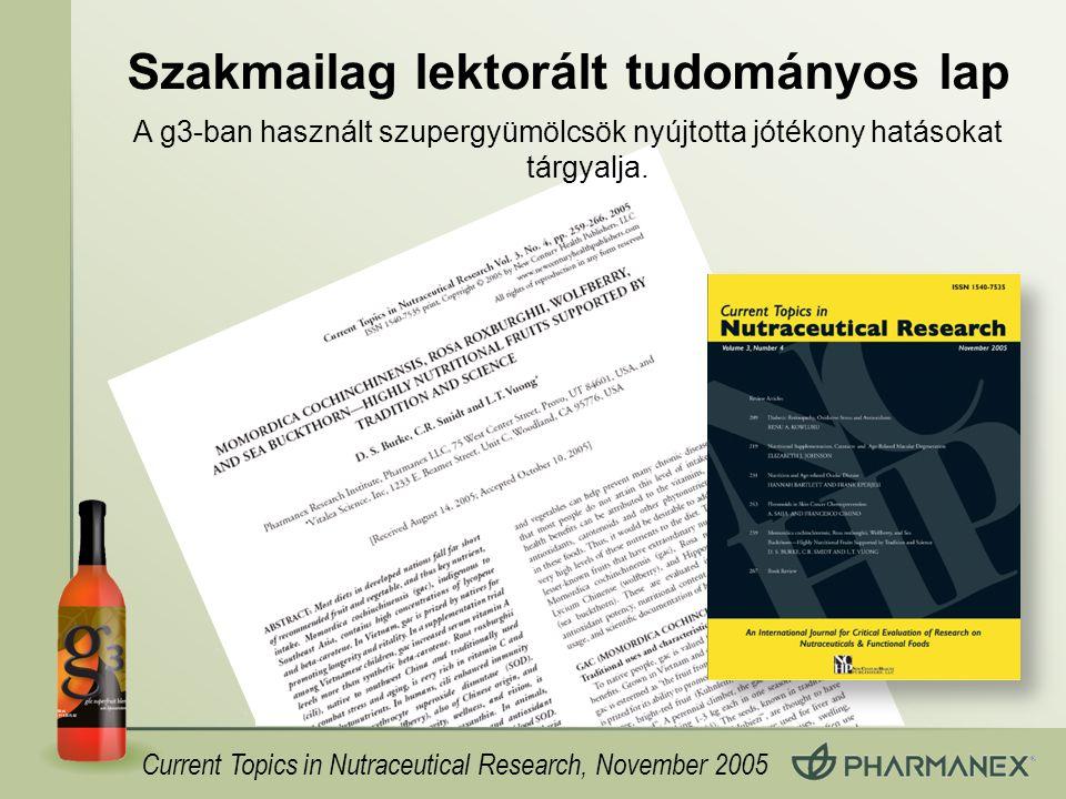 Szakmailag lektorált tudományos lap