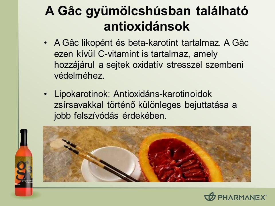 A Gâc gyümölcshúsban található antioxidánsok
