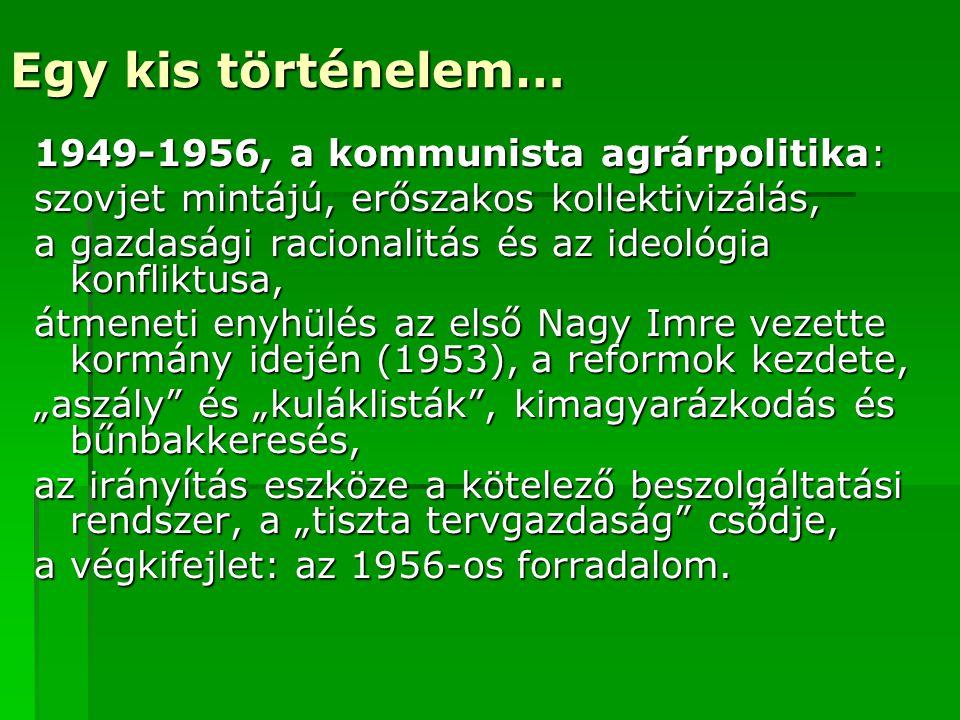Egy kis történelem… 1949-1956, a kommunista agrárpolitika: