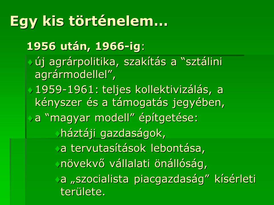 Egy kis történelem… 1956 után, 1966-ig: