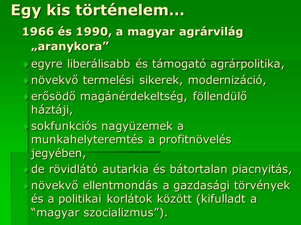 """Egy kis történelem… 1966 és 1990, a magyar agrárvilág """"aranykora"""