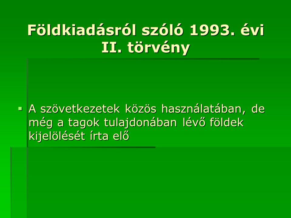 Földkiadásról szóló 1993. évi II. törvény