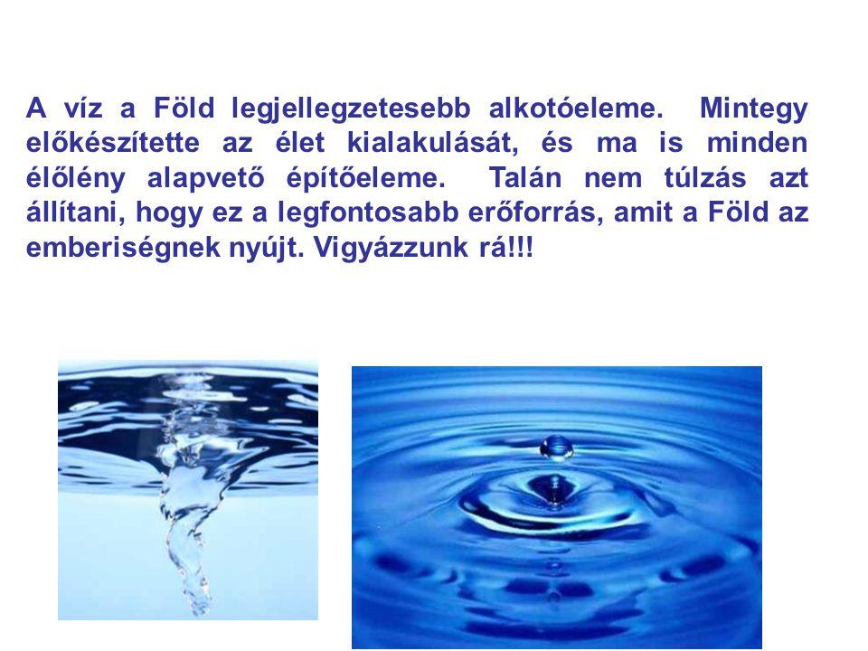 A víz a Föld legjellegzetesebb alkotóeleme