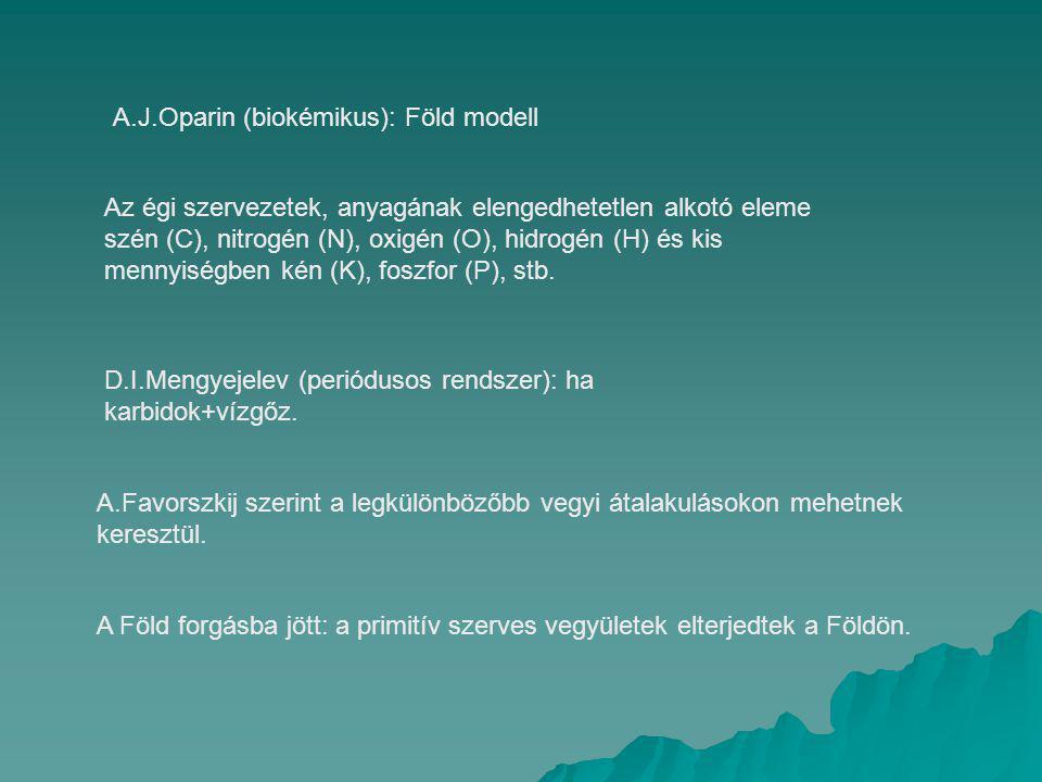 A.J.Oparin (biokémikus): Föld modell