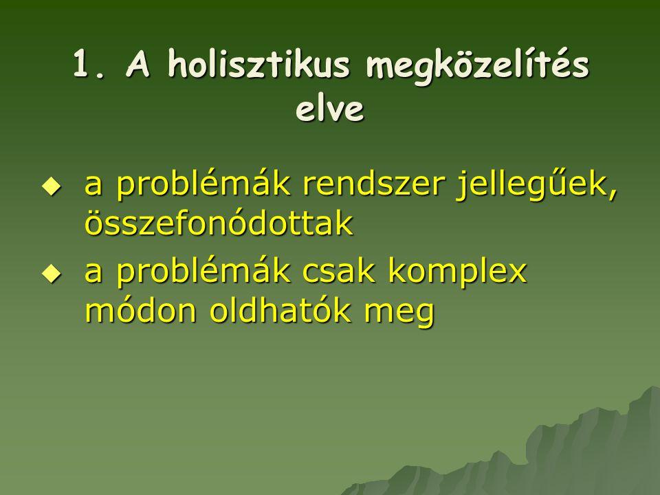 1. A holisztikus megközelítés elve