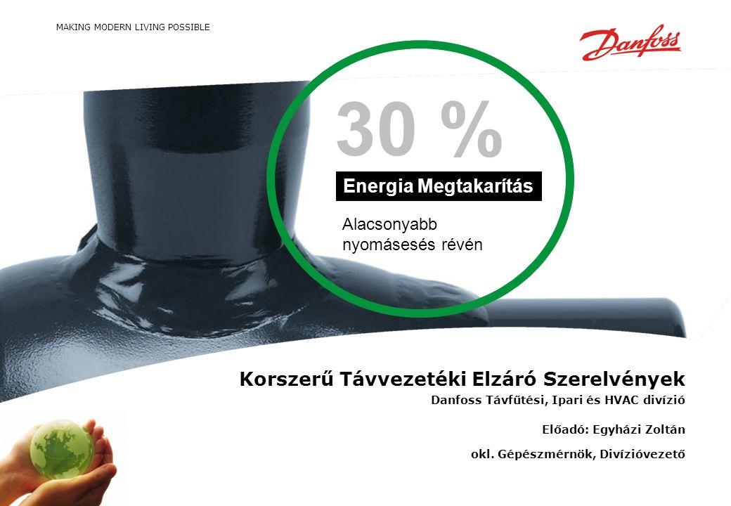30 % Energia Megtakarítás Korszerű Távvezetéki Elzáró Szerelvények