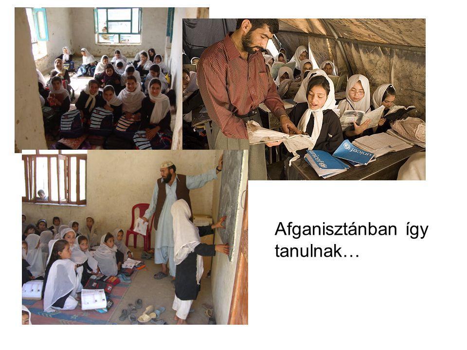 Afganisztánban így tanulnak…