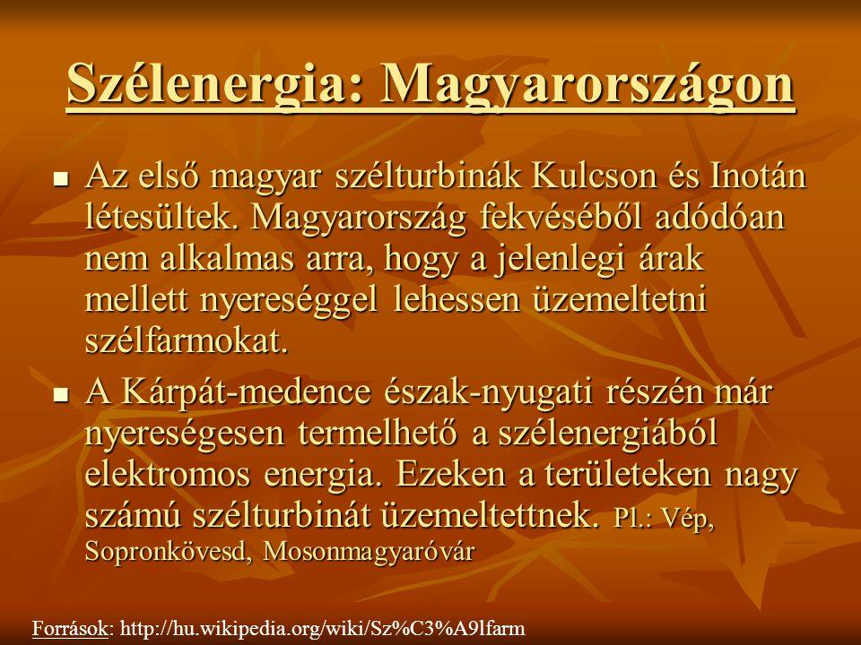 Szélenergia: Magyarországon