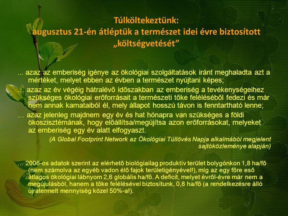 """Túlköltekeztünk: augusztus 21-én átléptük a természet idei évre biztosított """"költségvetését"""