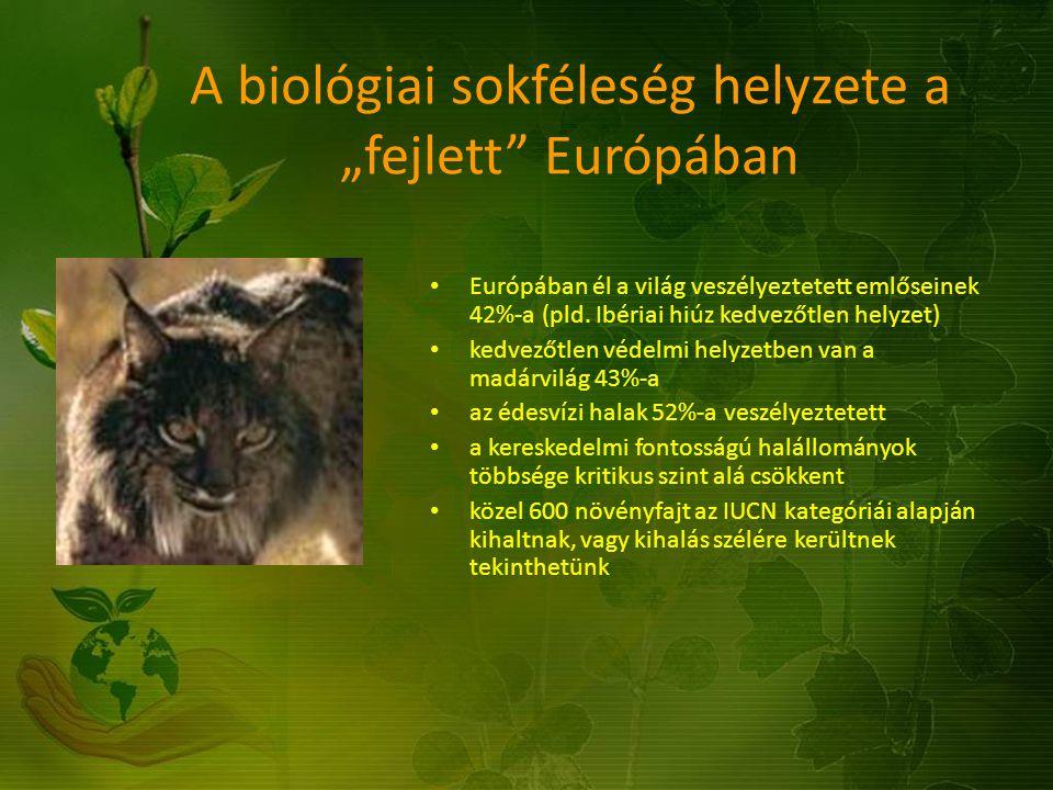 """A biológiai sokféleség helyzete a """"fejlett Európában"""