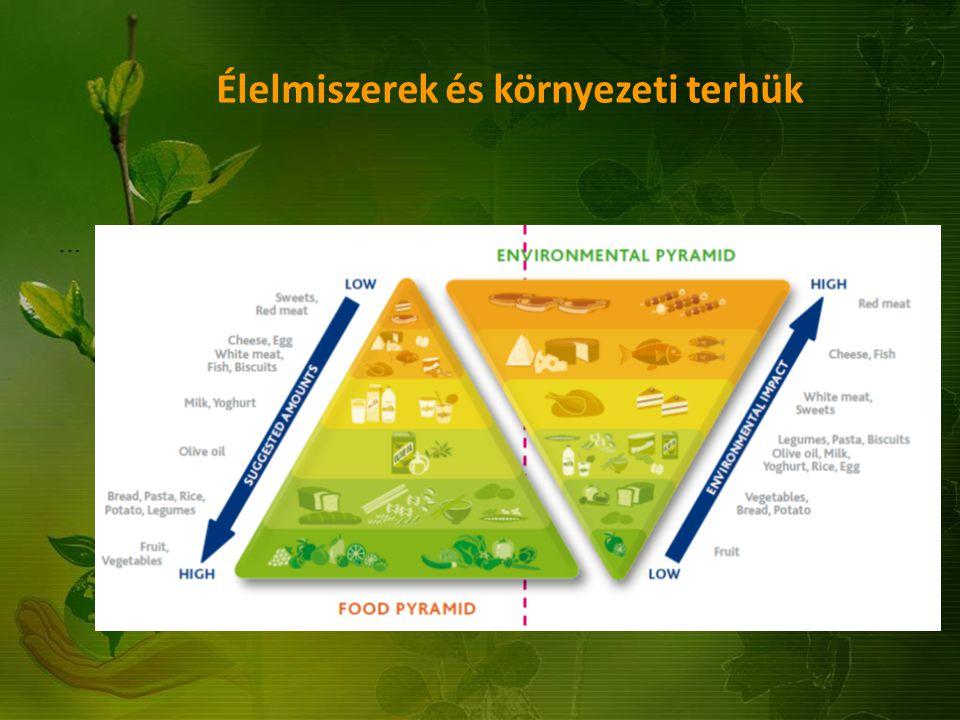 Élelmiszerek és környezeti terhük