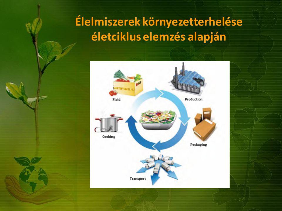 Élelmiszerek környezetterhelése életciklus elemzés alapján