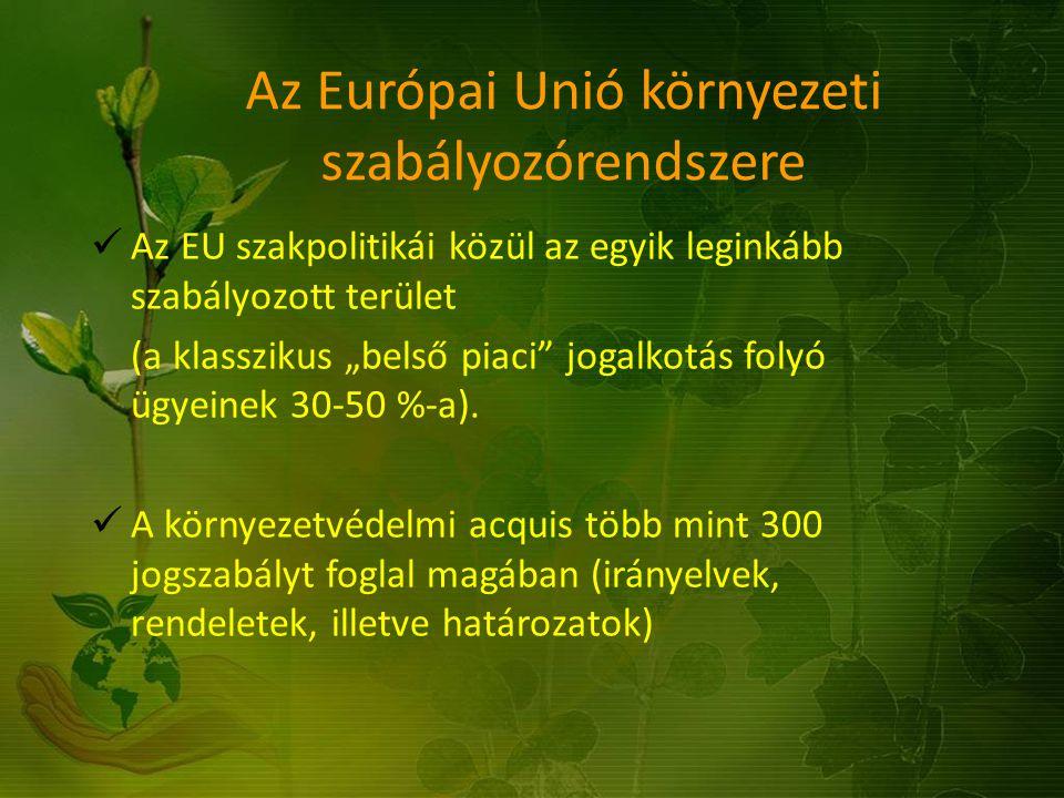 Az Európai Unió környezeti szabályozórendszere