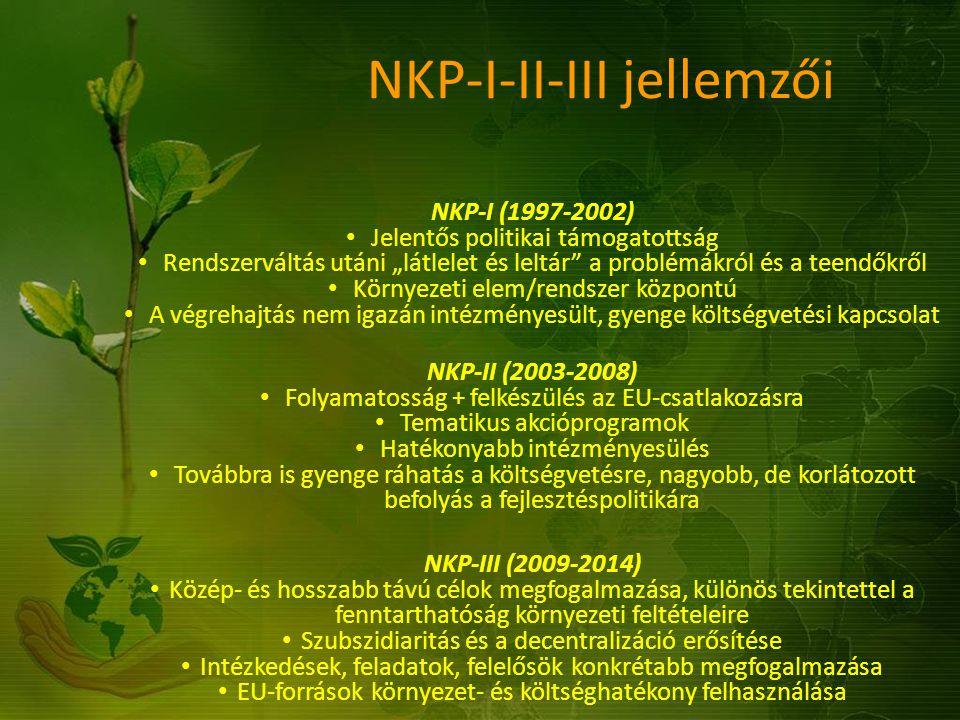NKP-I-II-III jellemzői