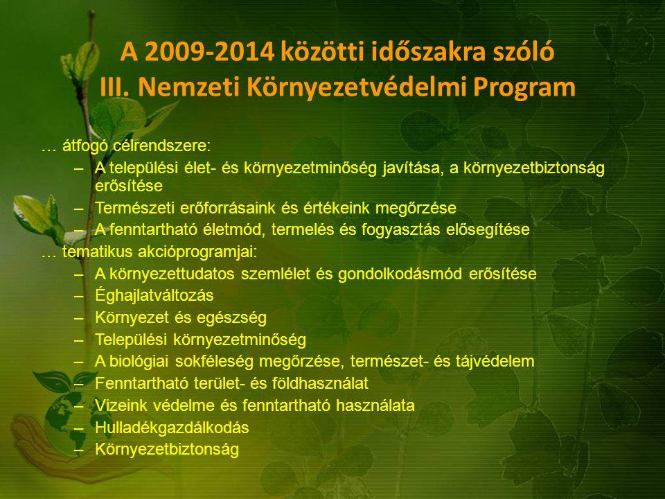 A 2009-2014 közötti időszakra szóló III