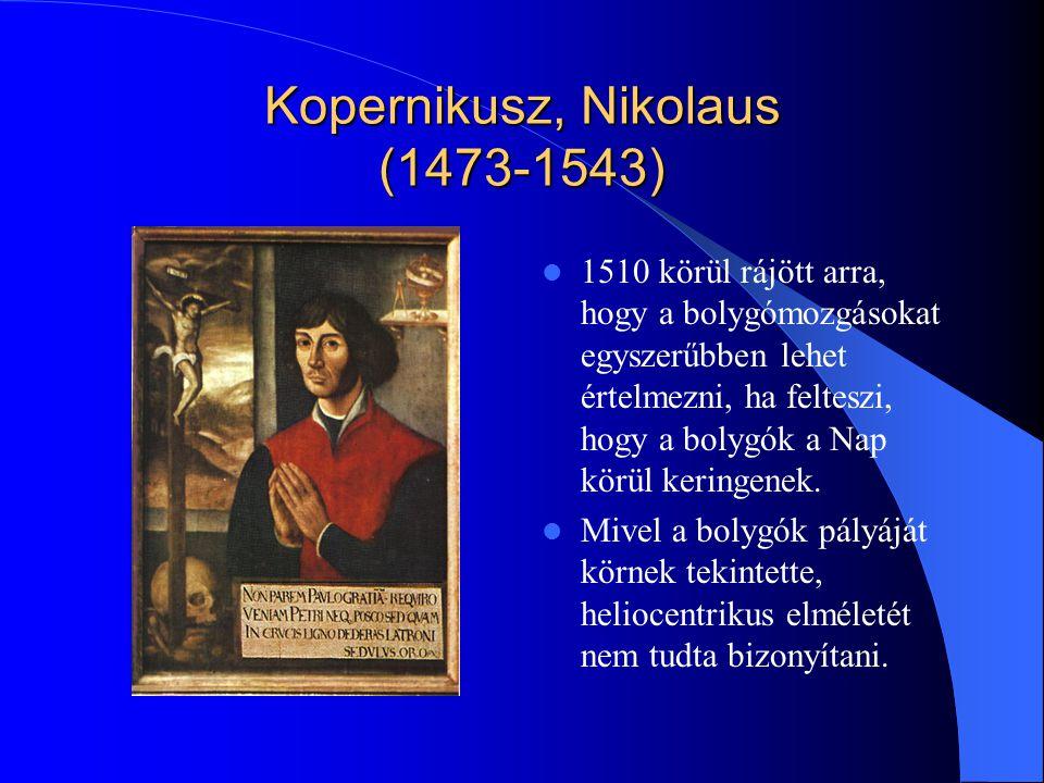 Kopernikusz, Nikolaus (1473-1543)