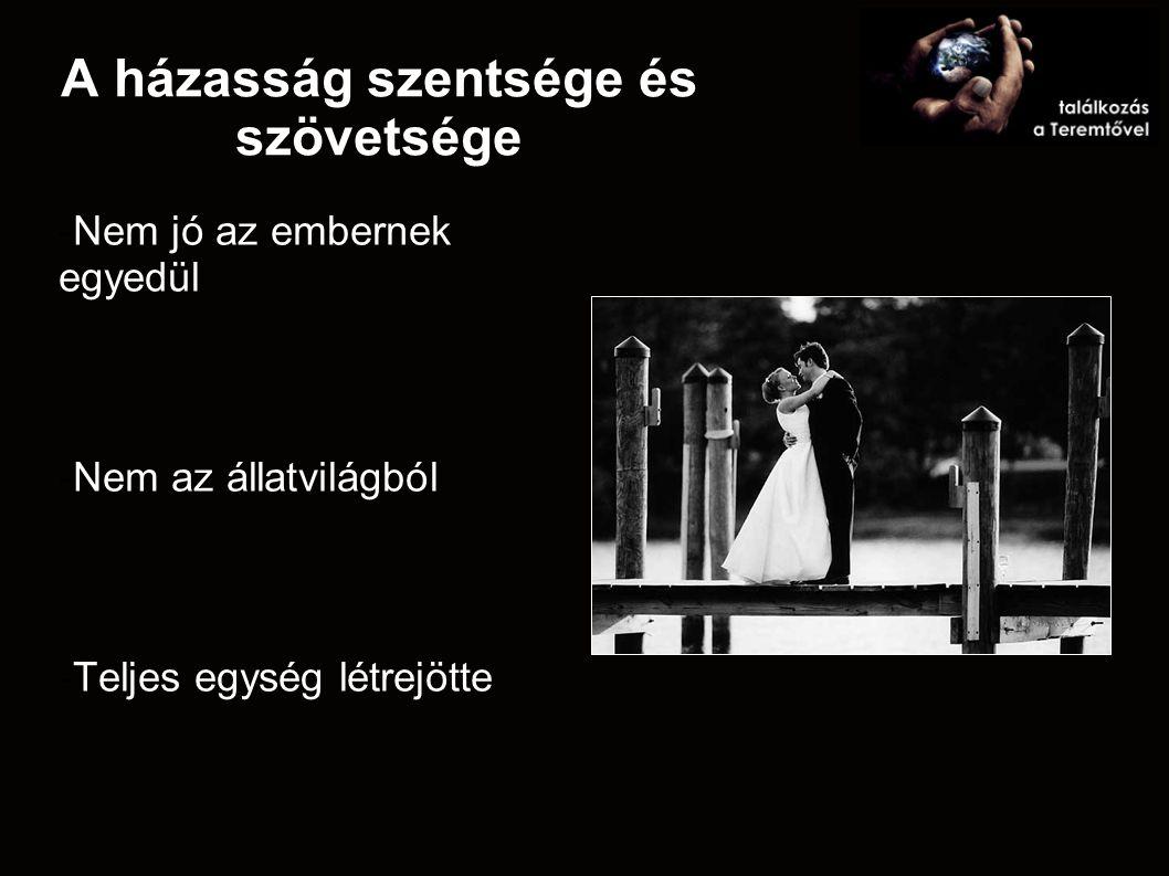 A házasság szentsége és szövetsége