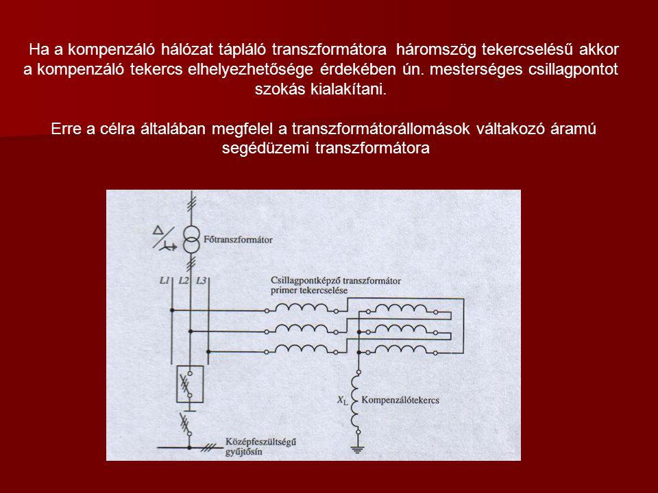 segédüzemi transzformátora