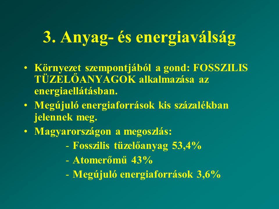 3. Anyag- és energiaválság