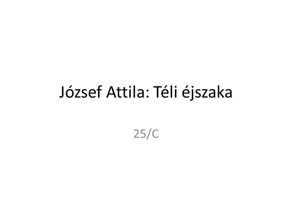 József Attila: Téli éjszaka