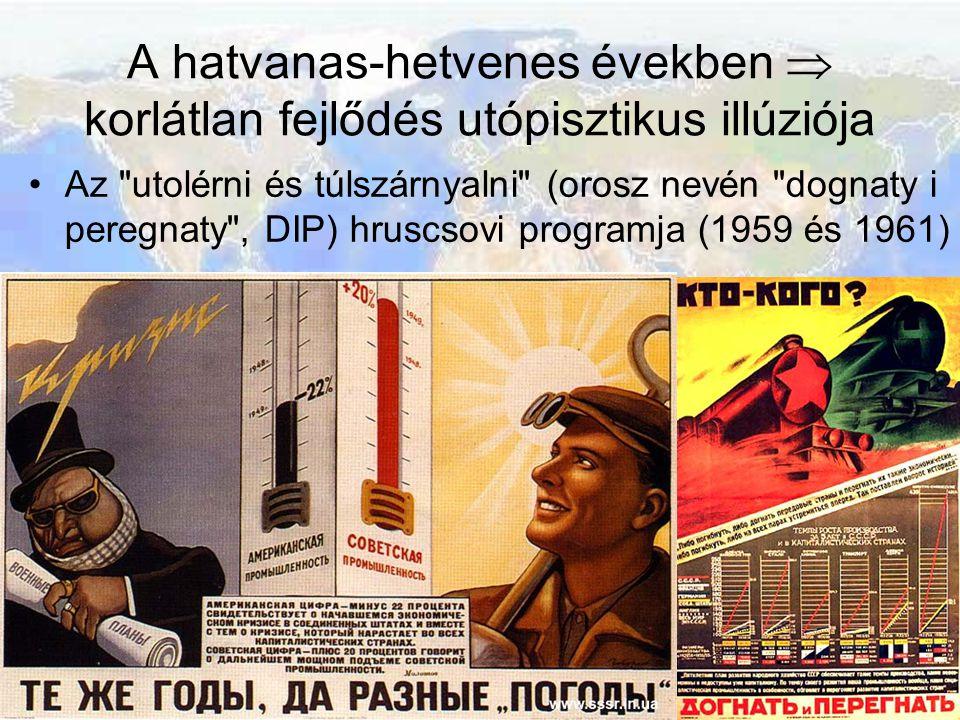 A hatvanas-hetvenes években  korlátlan fejlődés utópisztikus illúziója