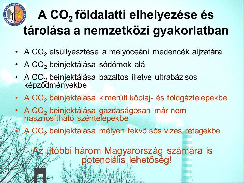 A CO2 földalatti elhelyezése és tárolása a nemzetközi gyakorlatban