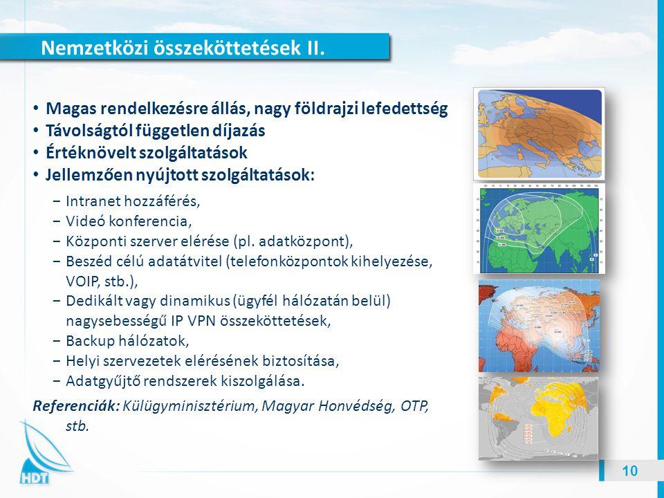 Nemzetközi összeköttetések II.