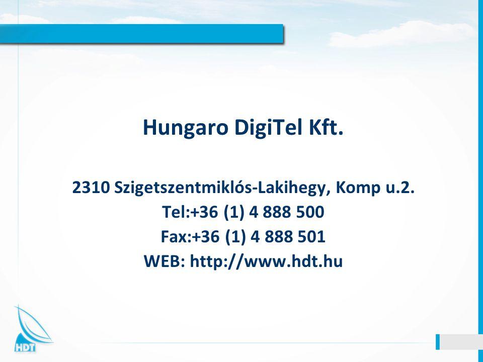 2310 Szigetszentmiklós-Lakihegy, Komp u.2.