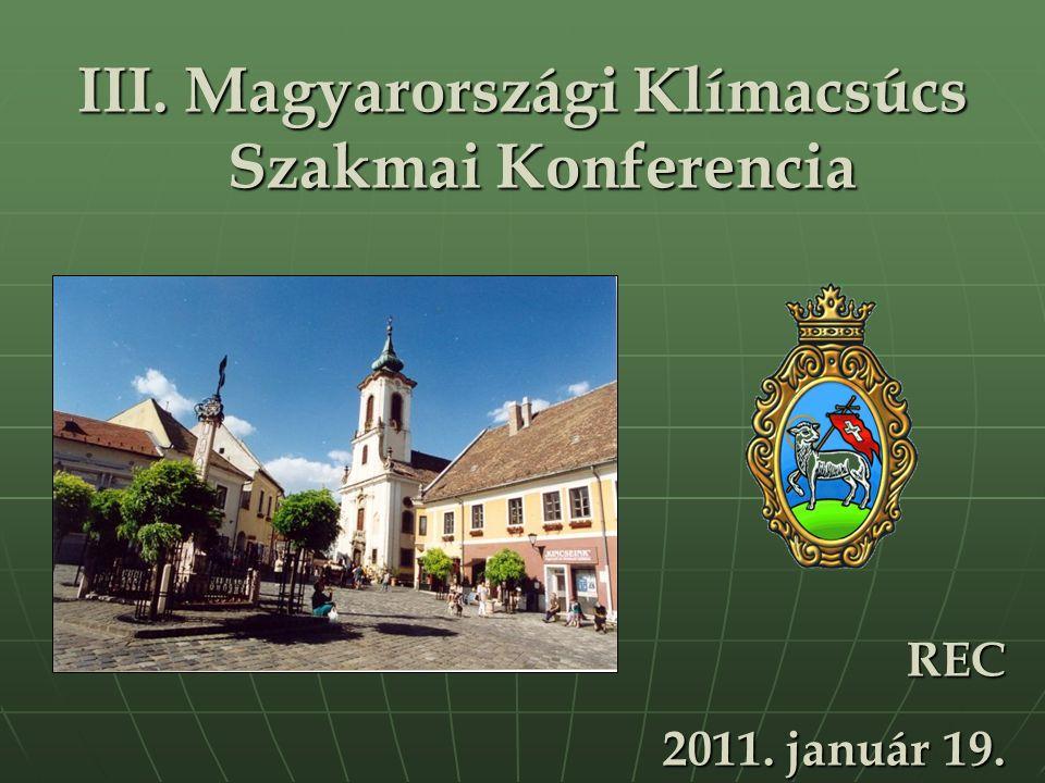 III. Magyarországi Klímacsúcs Szakmai Konferencia