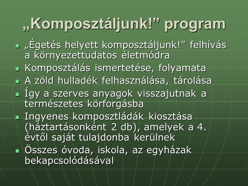 """Komposztáljunk! program"