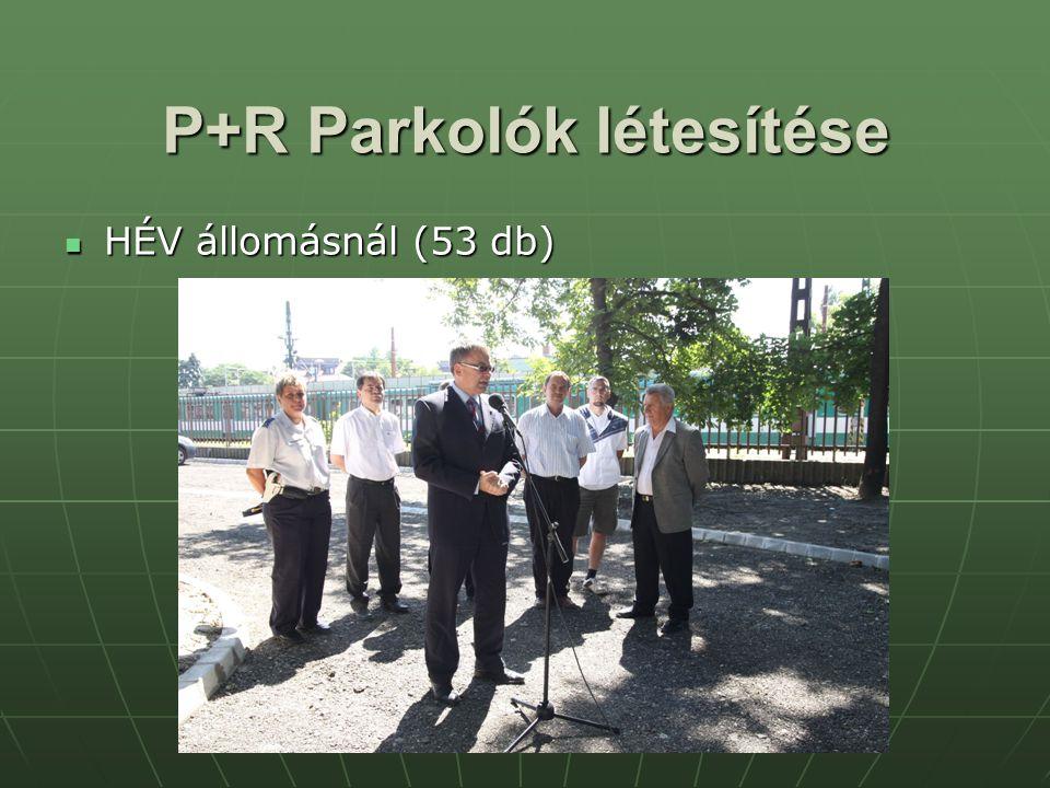 P+R Parkolók létesítése