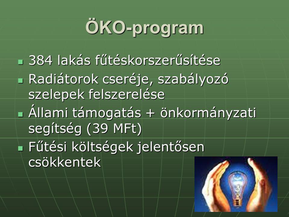 ÖKO-program 384 lakás fűtéskorszerűsítése