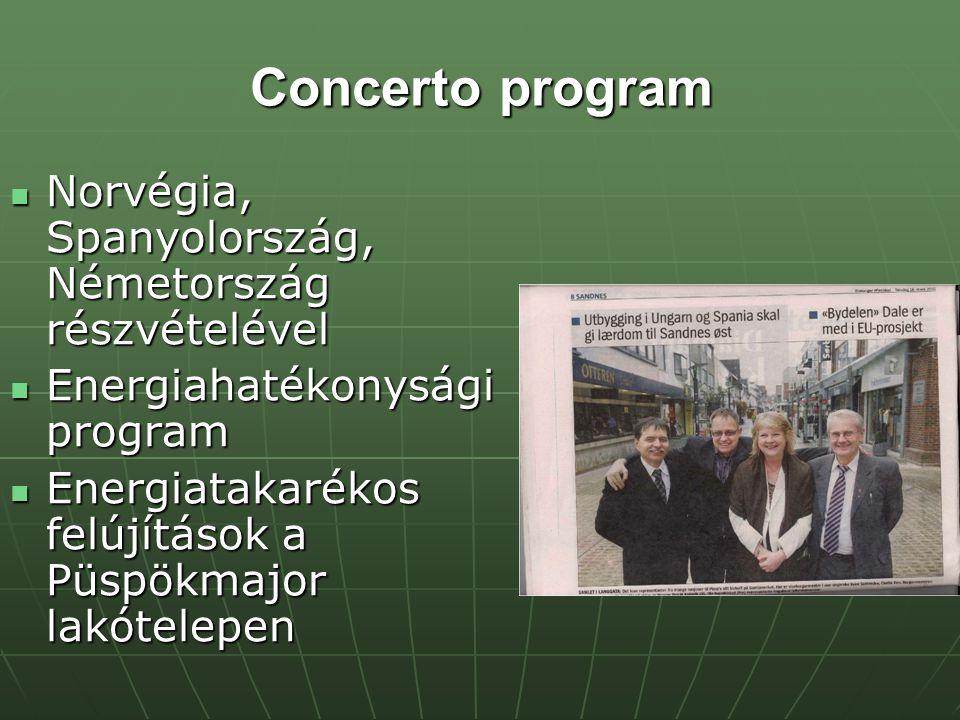 Concerto program Norvégia, Spanyolország, Németország részvételével