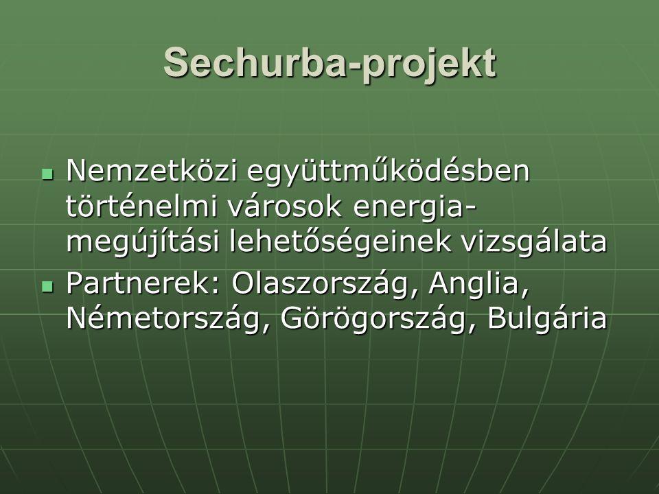 Sechurba-projekt Nemzetközi együttműködésben történelmi városok energia-megújítási lehetőségeinek vizsgálata.