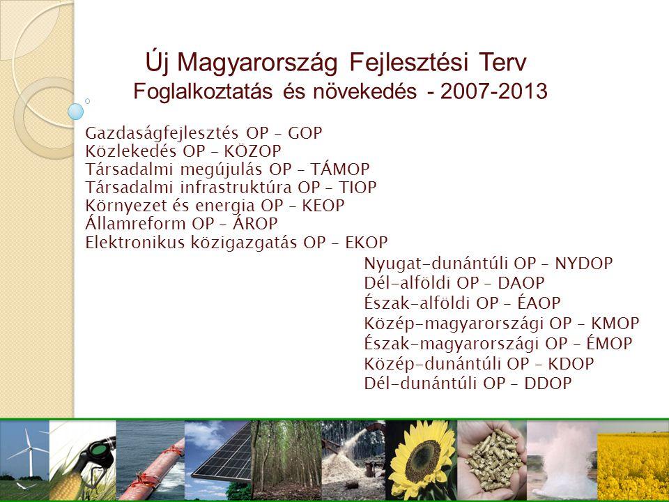 Új Magyarország Fejlesztési Terv Foglalkoztatás és növekedés - 2007-2013