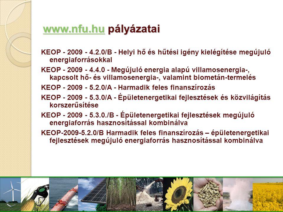 www.nfu.hu pályázatai