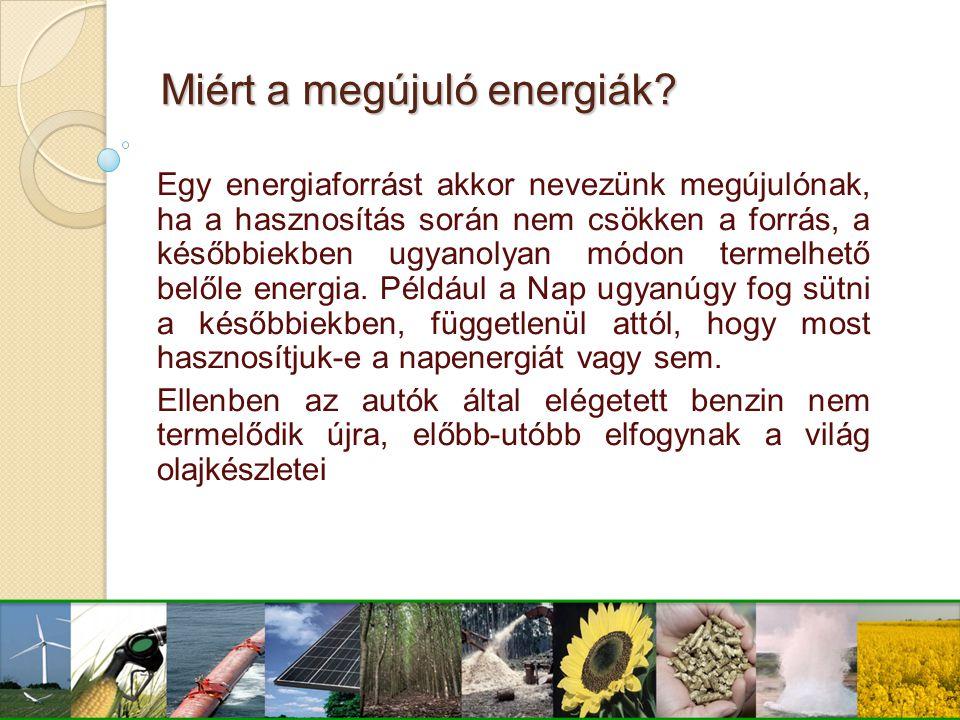 Miért a megújuló energiák