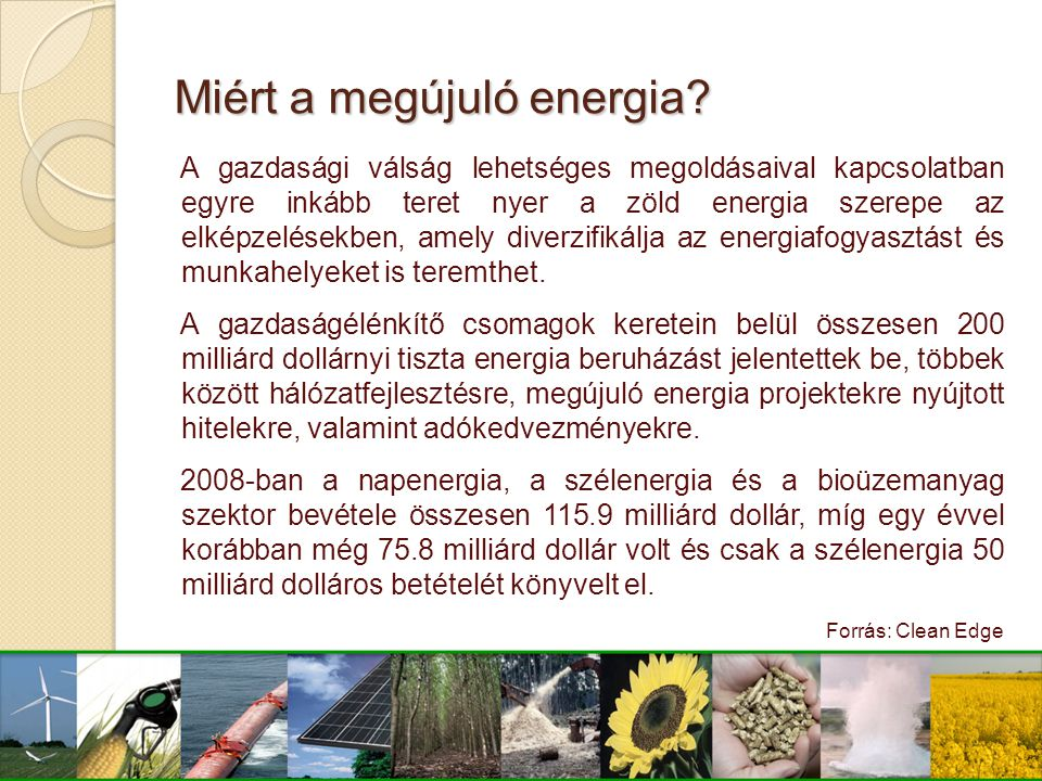 Miért a megújuló energia