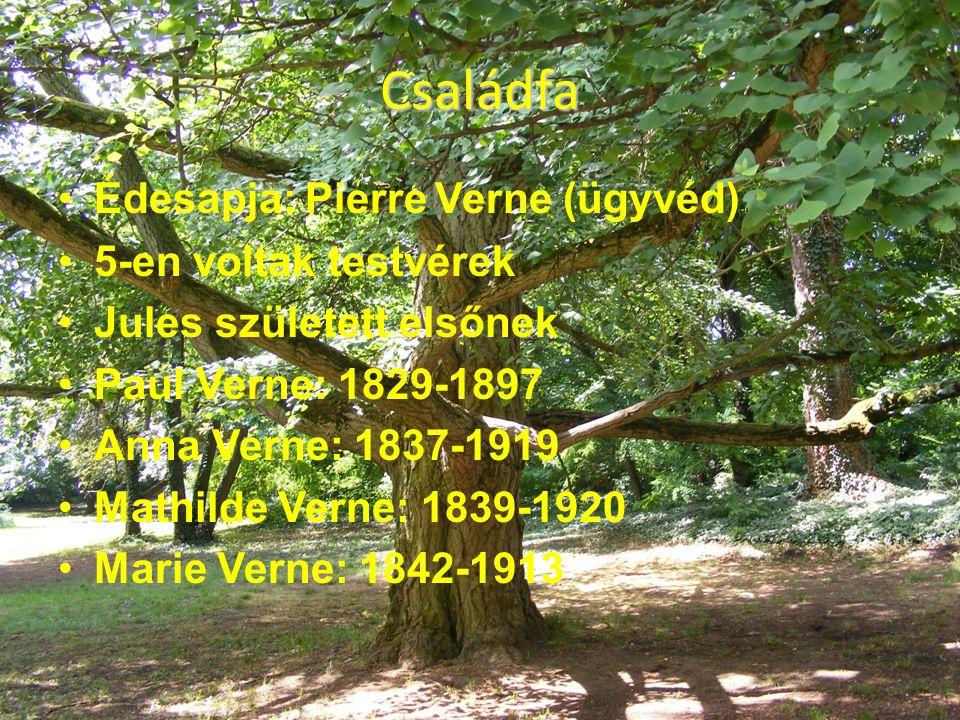 Családfa Édesapja: Pierre Verne (ügyvéd) 5-en voltak testvérek
