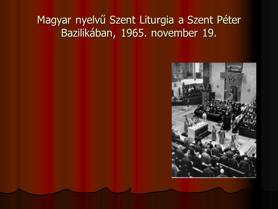 Magyar nyelvű Szent Liturgia a Szent Péter Bazilikában, 1965