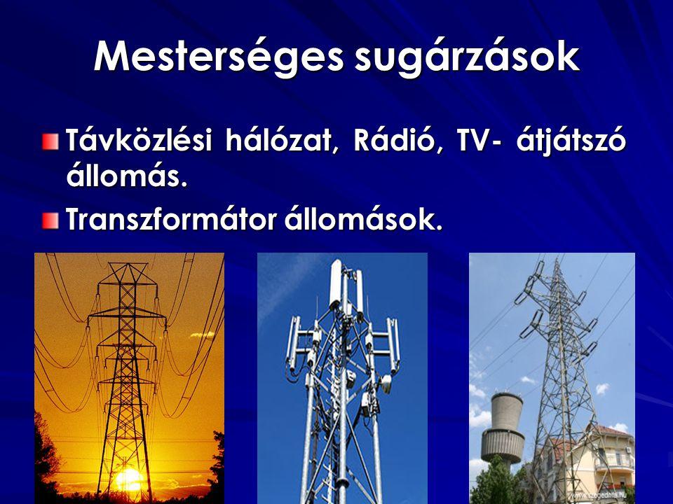 Mesterséges sugárzások
