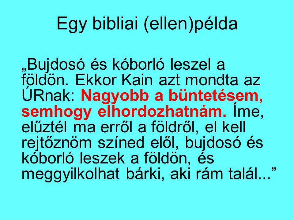 Egy bibliai (ellen)példa