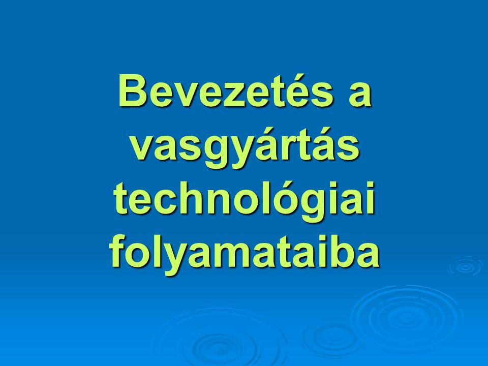 Bevezetés a vasgyártás technológiai folyamataiba